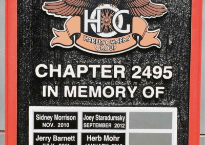 edit HARLEY PLAQUE